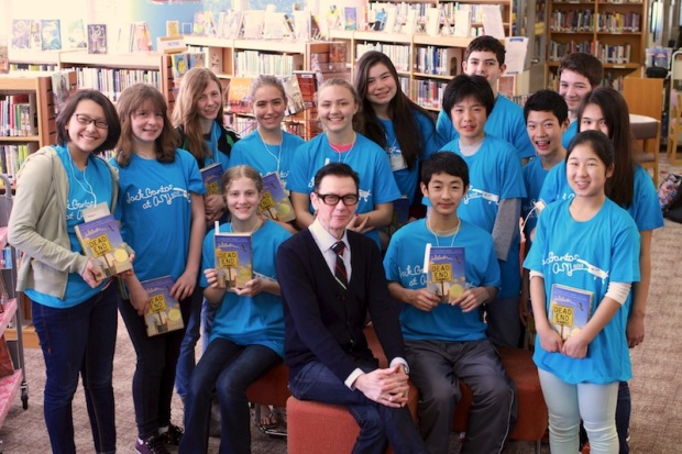 Jack Gantos in the middle school library