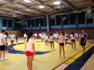 Cheer Camp bring Mustang Spirit back to the gym after the summer break