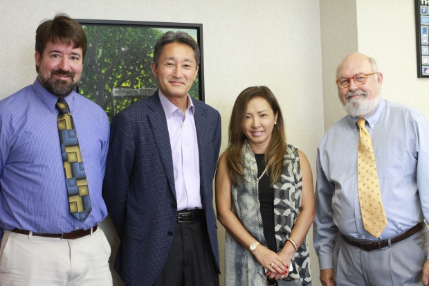High School Principal Rick Weinland, Kaz Hirai '79, Atsuko Honda '77 from the AAC and Head of School Ed Ladd