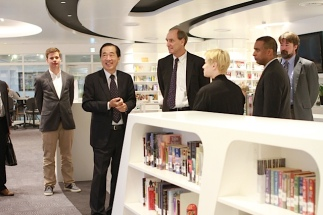 Touring the new High School library