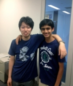 Dev and his college buddy, Kei