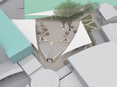 Design plans for the new courtyard
